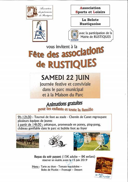 Affiche fete des associations 2019