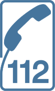 Emergency telephone number 112 svg